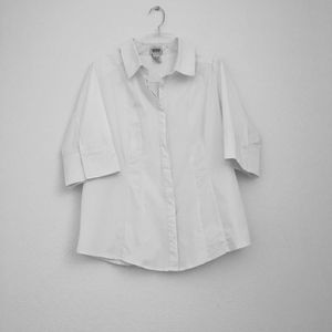 Monroe and Main White Pleated Shirt
